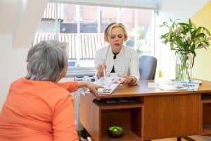 Skincare consultation with Geraldine